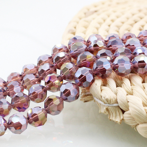 Faceted Glass Beads Crystal Sphere Round Bead with Wedding Costume Accessories