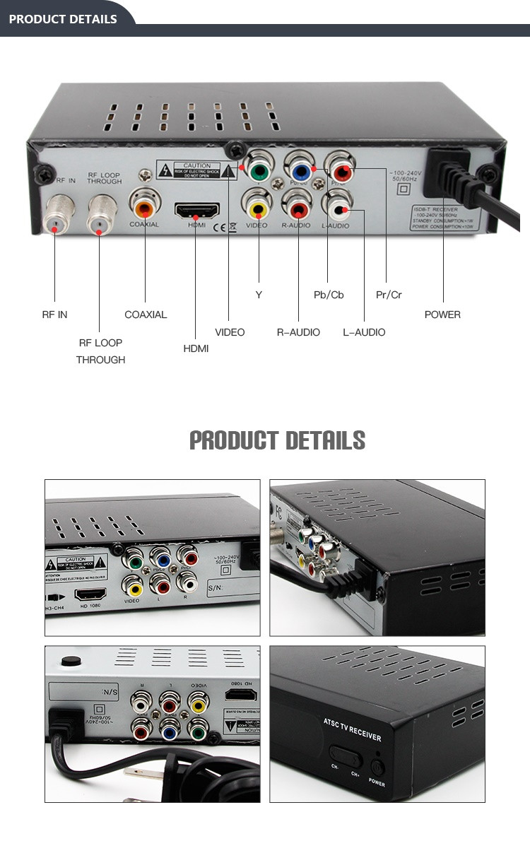 Shenzhen Junuo definitely yes factory free to air strong signal hd 1080p digital tv atsc decoder