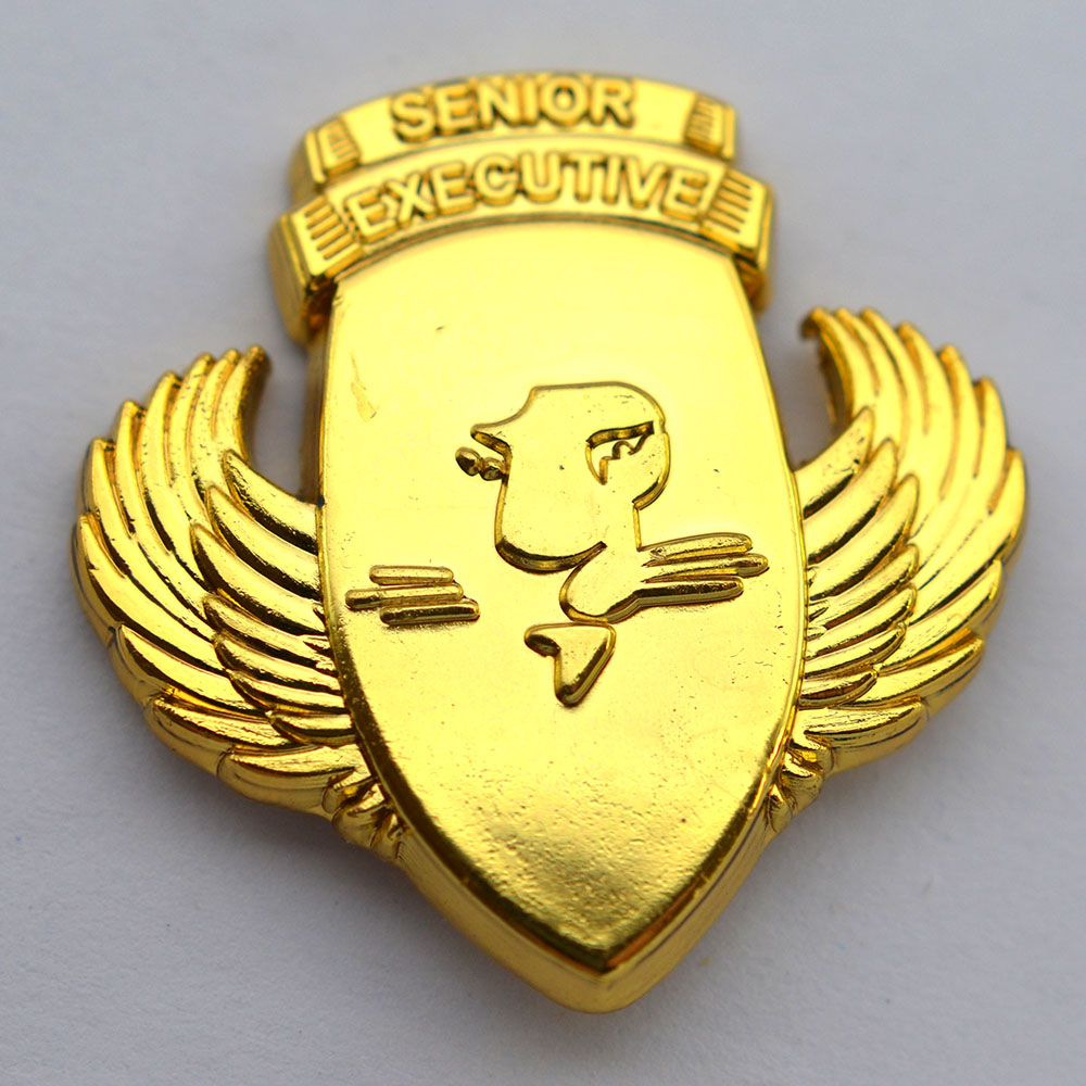 Factory Cheap Wholesale Metal Die Casting Airline Pilot Wing Badge