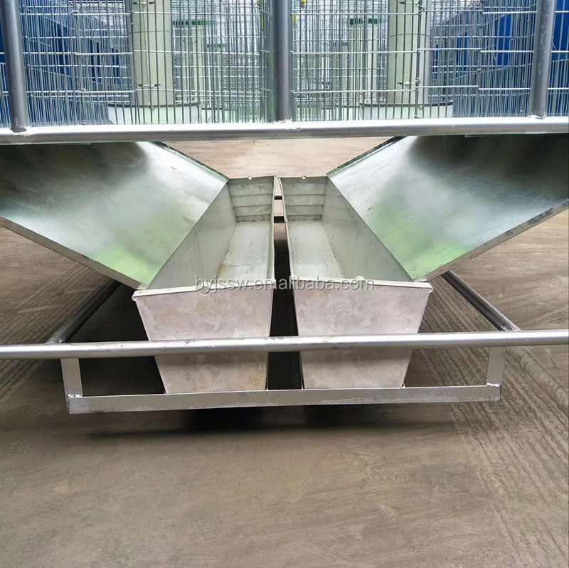 Folding Breeding Rabbit Cage With Plastic Tray