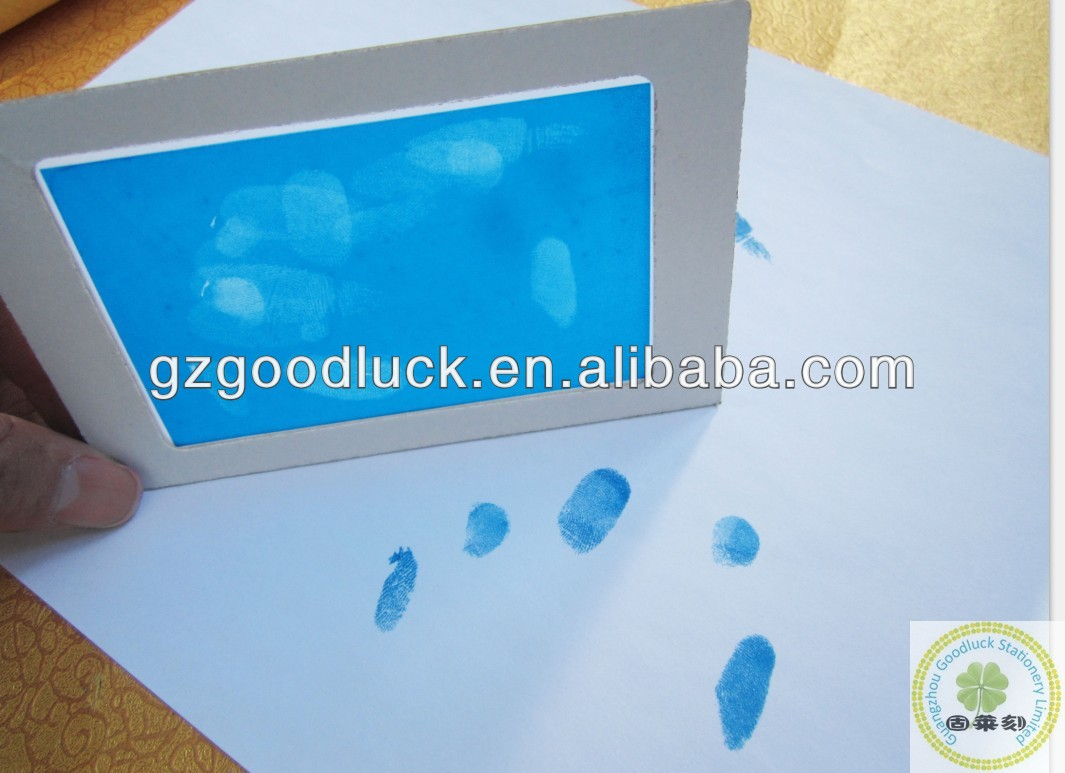 Blister Packing Footprint and Fingerprint Blue Ink Pad For Baby