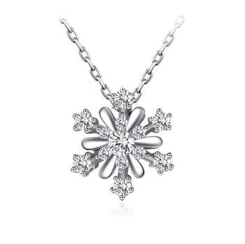 925 silver necklace jewelry wholesale snowflake necklace flower
