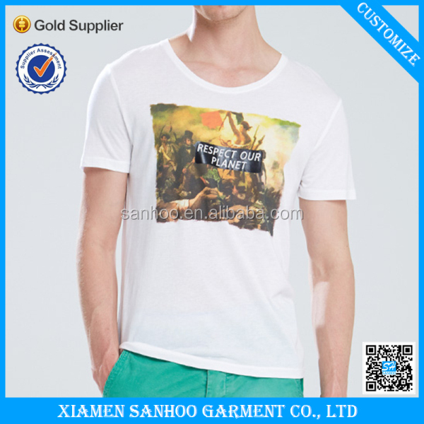 Wholesale Custom Printed Cheap Brand 100% Cotton Custom Tshirt No Labal Made In China