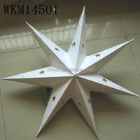 Party decorations home decor white paper star lanterns wholesale
