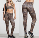OEM leopard print women yoga pants leggings high waist tights