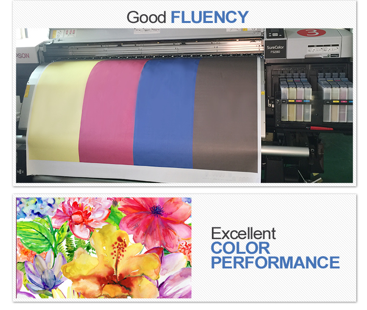 large promotion Kiian sublimation ink transfer on polyester by mimaki jv33 printer