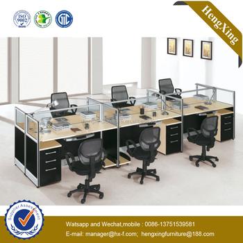E1 MDF Office Desk Melamine Office Partition Workstation (HX NPT017)