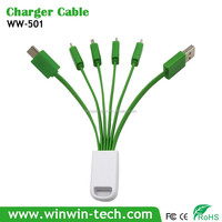 cost effective 3-in-1 Charging Cable W/ LED Illuminated Trim for promotional giveaways
