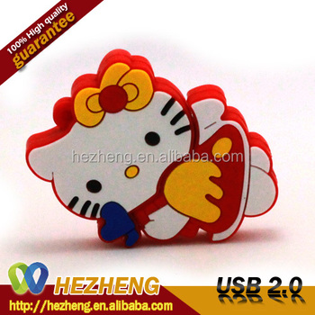 2016 mp3 tamil songs download 32GB Cat Shape Drive Thin Cartoon Kitty Pendrive USB 2.0 Customized Logo Free