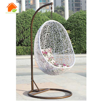 Indoor Egg Shaped Swing Chair Cane With Stand Product On