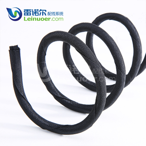 Polyester Pet Insulation Braided Self-Closing Wrap Cable Sleeving