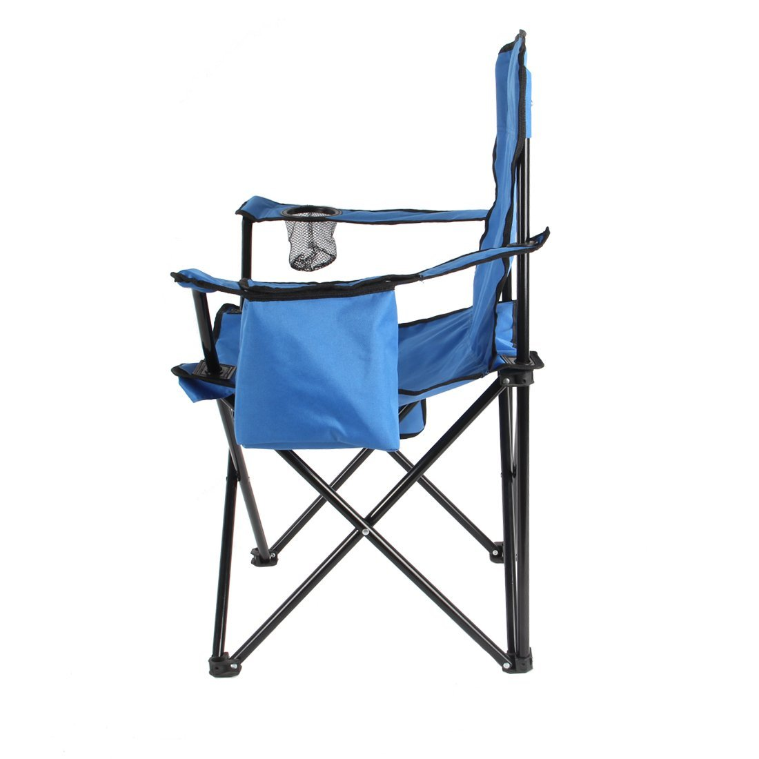fishing camping folding beach chair with arm adjustable canopy ice bag litter caddie