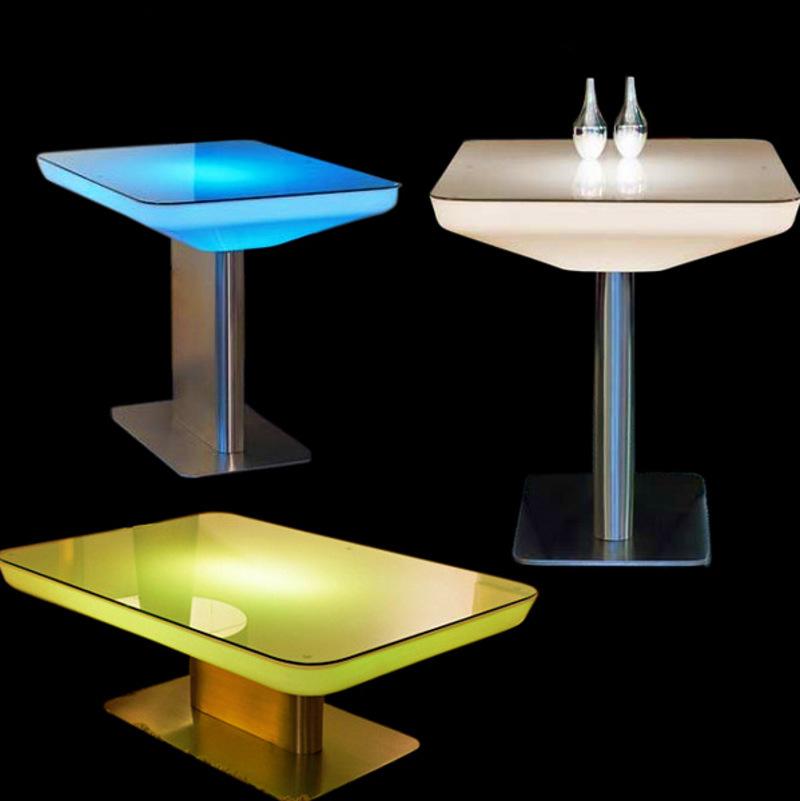Led Coffee Table Set: American Retro Bar Led Light Emitting Plastic Table Coffee