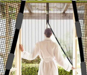 Screen Door Curtain Mesh Hands Net Anti Mosquito Bug Divider Curtain