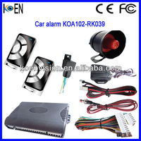 Cheap One Way Car Alarm System With Anti-hijacking And Automatic Close Window Remote Control