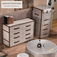 french style antique trunk coffee table and end tables