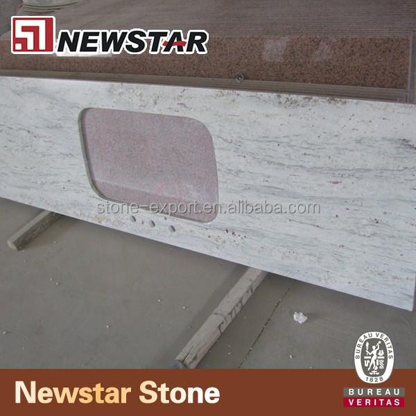 Precortadas precio para gran losa de granito r o blanco for Piedra de rio blanca precio
