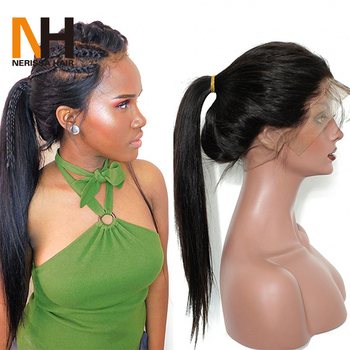 8A 9A High Ponytail Glueless Full Lace Wig Long Braided Lace Front Wigs  Virgin Hair Wigs 50d56f633