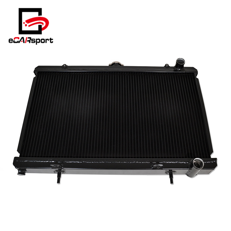 eCARsport High Performance 2.4L Mt Aluminum Car 2 Row Radiator For Nissan 240Sx S13 1989-1994