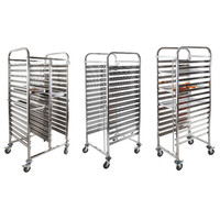 Custom layers Stainless Steel Single Line GN Pan Trolley/GN Pan Cart