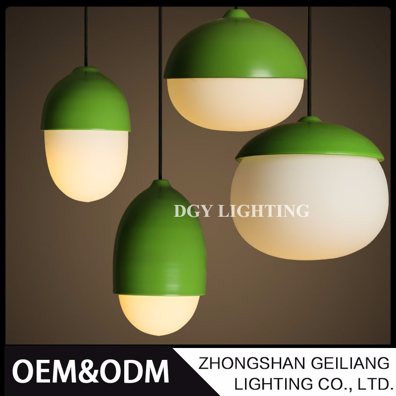 bar shop dining room use european simple antique green glass shade hanging pendant lamp