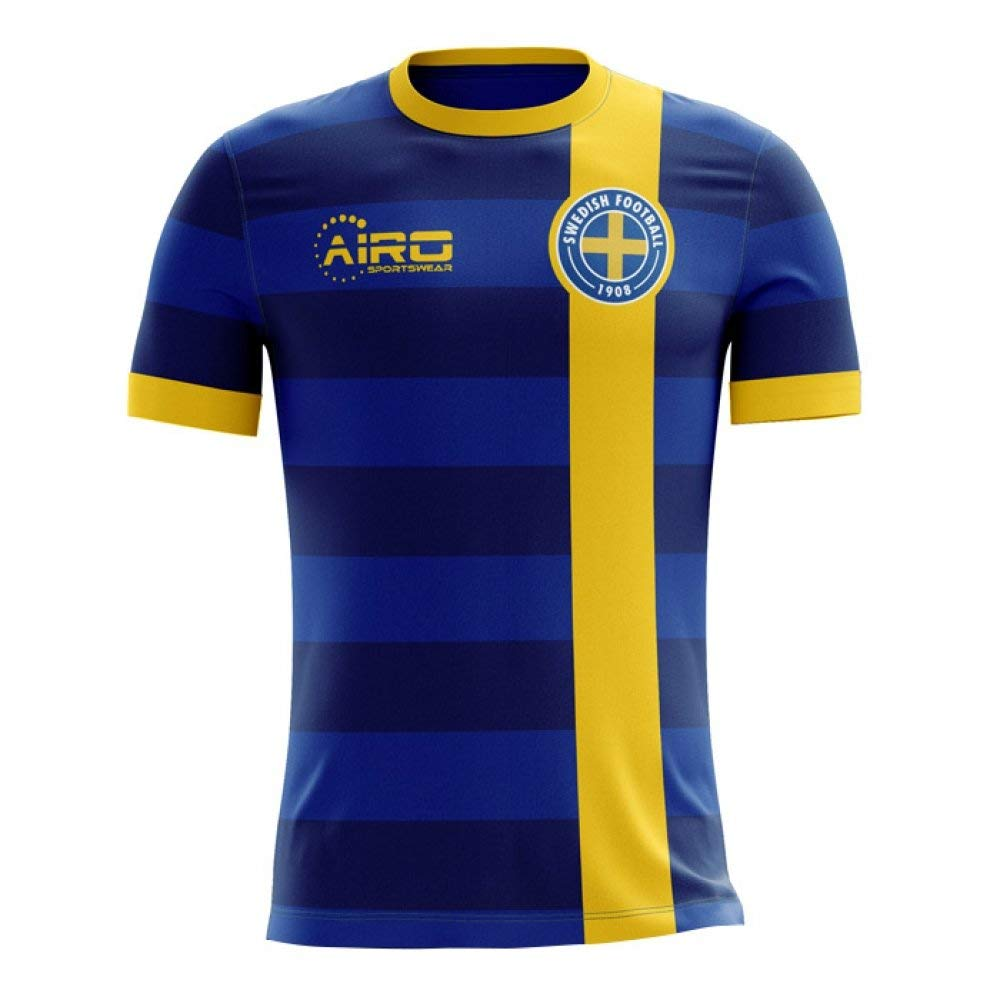 b3af1a048f4 Get Quotations · Airo Sportswear 2018-2019 Sweden Away Concept Football  Shirt (Kids)
