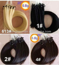 Human Hair Extensions Pre-Bonded Hair Exrension Ring-X Hair Extension
