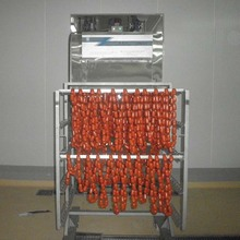 automatic electric heating 1 trolley smoke house for sale