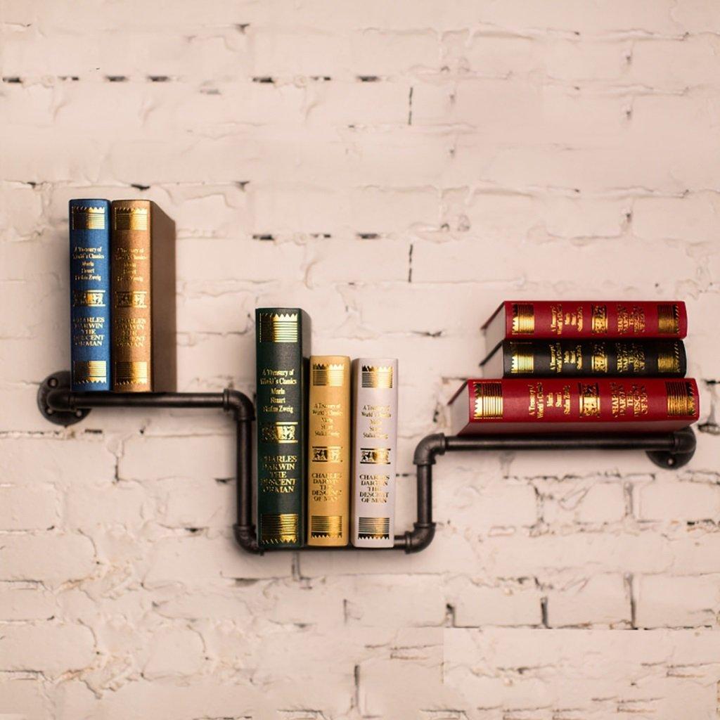 Iron Tube Retro Bookcase LOFT Retro Industrial Style Bookshelf Water Pipe Shelves Metal Pipe Racks