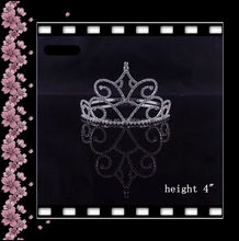 "wholesale hair accessories 5"" tall pageant beauty girls tiara"