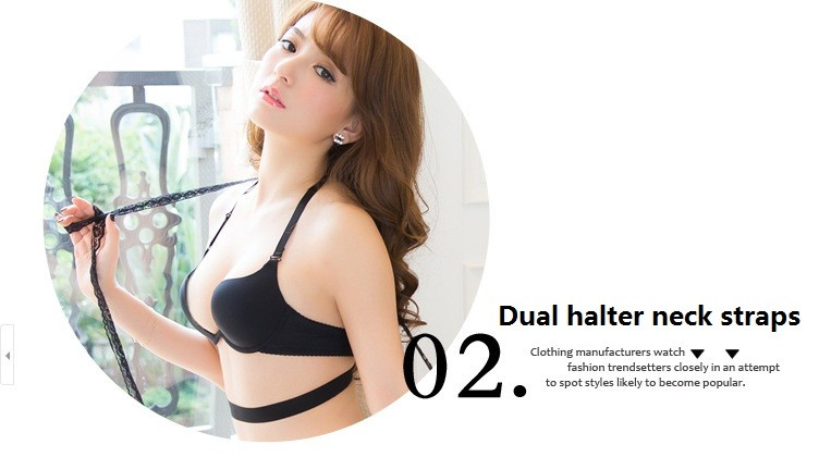 86eb20780 Compre Estilo Japonês Deep V Underwire Design Push Up Sutiã Sem ...