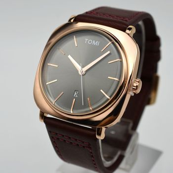 2017 New Style TOMI Brand Luxury Fashion Quartz Watch Casual Leather Concise Male Clock Men Dress Watch Gift Business Watch Men