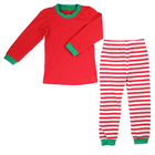 kaiyo kids children clothing set boys girls strip pants o-neck solid boutique shirts top Christmas pajamas outfit underwear