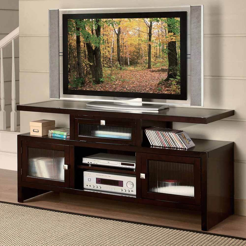 1perfectchoice Jupiter Contemporary Folding Fold Tv Stand Entertainment Table Wood In Espresso