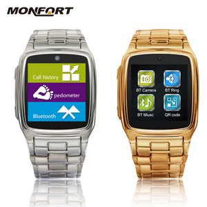 latest wrist watch mobile phone touch screen bluetooth waterproof hd 1.3M smart watch camera