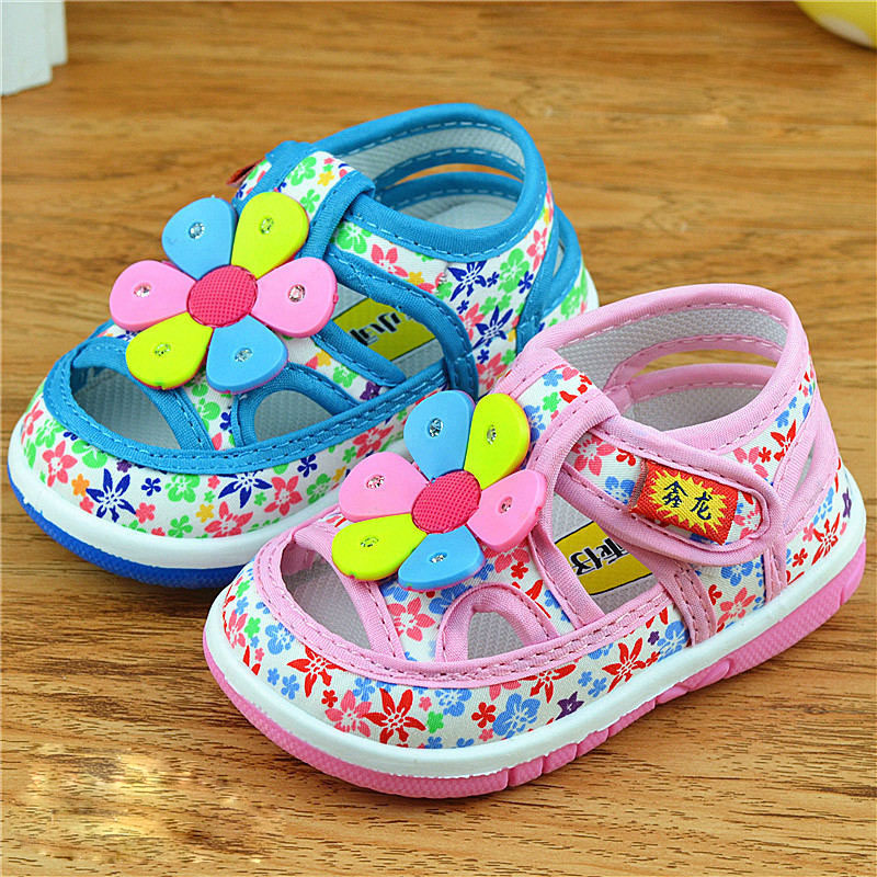 New fashion summer Newborn baby shoes baby moccasins cotton girls princess flower toddlers Crib Shoe Soft soled Non-slip