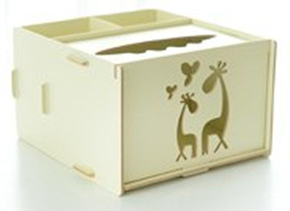 Creative DIY Tissue Box Multifunctional Desk Accessories Wooden Storage Box Home Office Desk Organizer