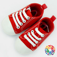 2019 Hot Lovely Sport Baby Shoes Plain Red Children Sports Shoes Toddler Infant Baby Shoes