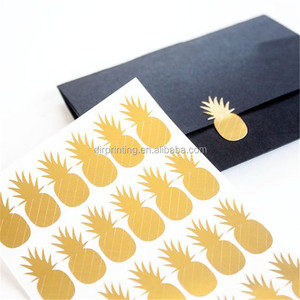Custom company brand logo gold foil label sticker hot stamping label tag
