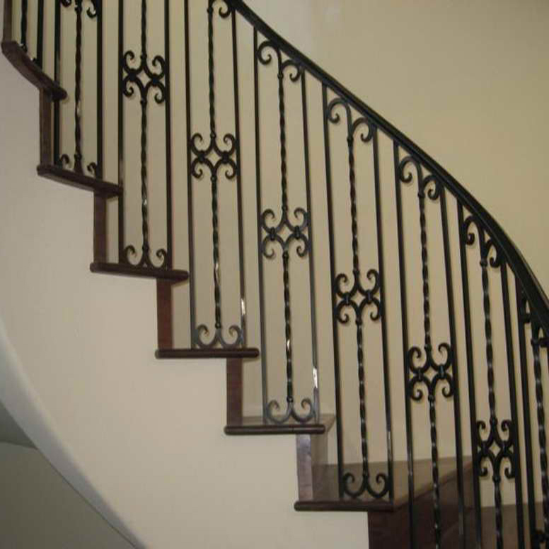 Wrought Iron Stair Handrail Wall Mounted