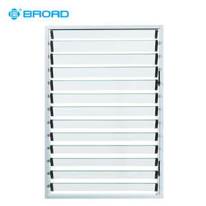 China Supplier price adjustable basement glass louvres windows