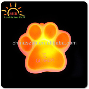 Promotional items bear paw glowing necklace pendant