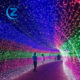 Pouplar fairy customzied invisible fancy black light outdoor city garen color changing led decorative indoor pull string light