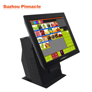 China POS Factory Touch Point-Of-Sale System with Built-in Printer Accepting Credit Card Payment