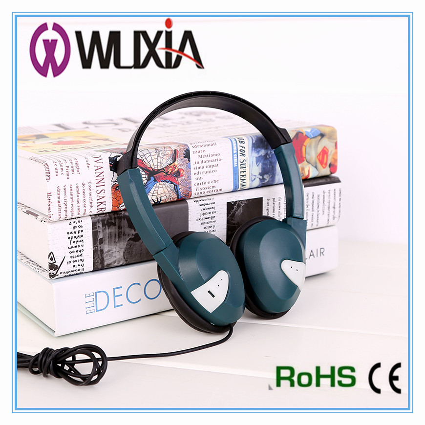 Professional oem colorful headphone headset stereo wired headset