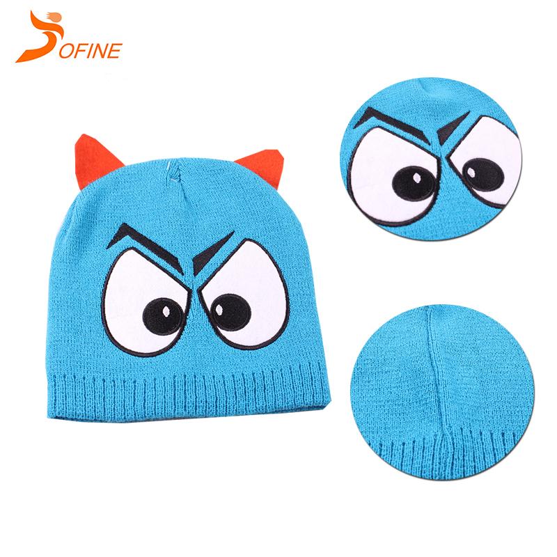 080c07d8 High profile Custom 100% Acrylic Knitted Beanie Hats/ Pom pom Caps for kids