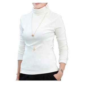 Wholesale Selling White Turtleneck T Shirts For Women