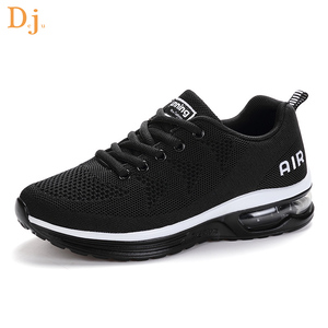 Jinjiang factory price knitted upper men air sport shoes