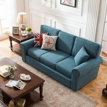 GL6051B Fabric Queen Size European Pull Out Sofa Bed