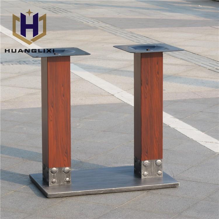 Unico metallo quadrato tavolo da pranzo gambe piedi per for Ferro tubolare quadrato prezzo